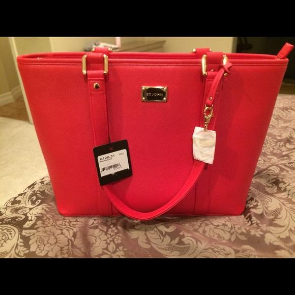 St. John Handbags - ***Brand new ST. JOHN red tote***